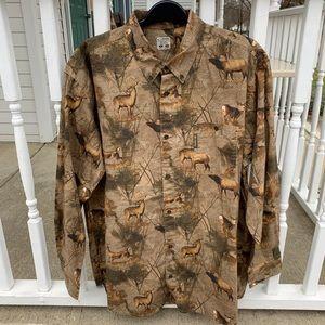 New Columbia PHG Camo Hunting Button Shirt XL